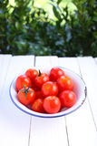 Cherry tomatoes in bowl Royalty Free Stock Image