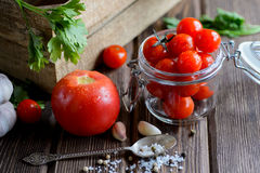 Cherry tomatoes bowl Royalty Free Stock Image