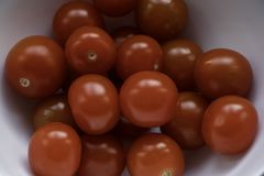 Cherry tomatoes close up stock photo