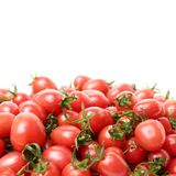 Cherry tomatoes. Close-up. Studio photography on a white background. Six varieties of tomatoes cherry on a white background Royalty Free Stock Photos