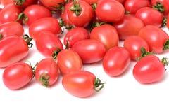 Cherry Tomatoes-close-up Studiofotografie op een witte achtergrond Zes verscheidenheden van tomatenkers stock fotografie