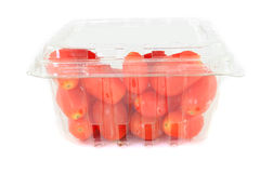 Cherry tomatoes container Royalty Free Stock Image