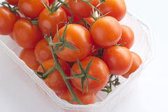 Cherry tomatoes in container Royalty Free Stock Image