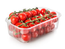 Cherry tomatoes in a container Royalty Free Stock Photo