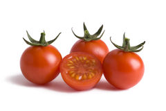 Cherry tomatoes cutout Royalty Free Stock Image