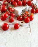 Cherry Tomatoes de un mercado de los granjeros Foto de archivo
