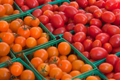 Cherry Tomatoes at a Farmer's Market Royalty Free Stock Photos