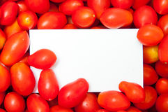 Cherry tomatoes frame Stock Photography