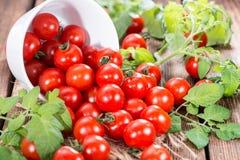 Cherry Tomatoes fresco Fotografía de archivo