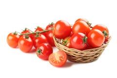 Cherry Tomatoes fresco Fotografia Stock
