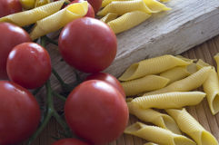 Cherry tomatoes with garganelli Royalty Free Stock Image