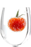 Cherry tomatoes with gas bubbles Royalty Free Stock Photos