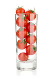 Cherry tomatoes in glass Royalty Free Stock Photography