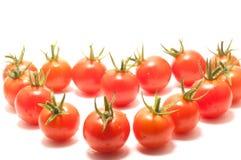 Cherry tomatoes heart shape Royalty Free Stock Photos