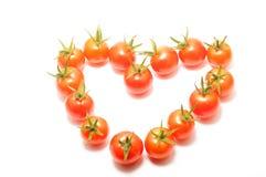 Cherry tomatoes heart shape Stock Photos