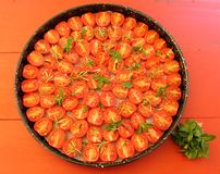 Cherry tomatoes with herbs and spices Royalty Free Stock Images