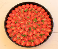Cherry tomatoes with herbs and spices Royalty Free Stock Photography