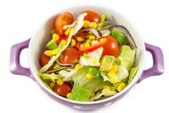 Cherry tomatoes and iceberg lettuce salad. Salad with cherry tomatoes and iceberg lattuce royalty free stock photos