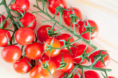 Cherry tomatoes isloated Stock Photos