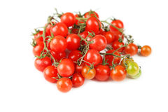 Cherry tomatoes isolated on a white Stock Photography