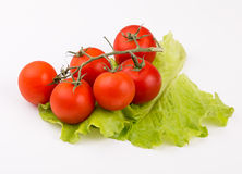 Cherry tomatoes isolated on white background Royalty Free Stock Photos