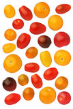 Cherry tomatoes isolated on white background, close up Stock Photos