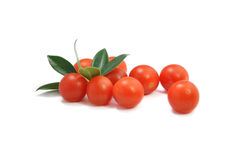 Cherry tomatoes isolated on white background Stock Photos