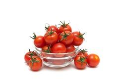 Cherry tomatoes isolated on white background. Stock Image