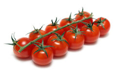 Cherry tomatoes isolated on white Stock Photography