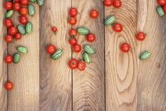 Cherry tomatoes and kiwano Royalty Free Stock Photos