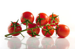 cherry tomatoes on a light background Royalty Free Stock Photography