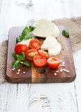 Cherry tomatoes with mozzarella Royalty Free Stock Images