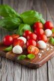 Cherry tomatoes with mozzarella Stock Photo