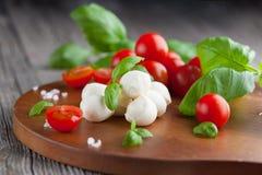 Cherry tomatoes with mozzarella Royalty Free Stock Photos