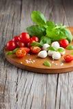 Cherry tomatoes with mozzarella Royalty Free Stock Photo
