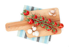 Cherry tomatoes with mushrooms Stock Image