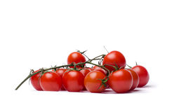 Cherry Tomatoes. Over white background Royalty Free Stock Images