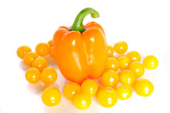 Cherry tomatoes and paprika Royalty Free Stock Photography