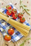 Cherry tomatoes and pasta Royalty Free Stock Images