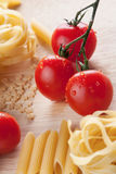 Cherry tomatoes and pasta Royalty Free Stock Photo