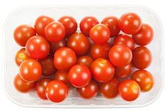 Cherry tomatoes in a plastic container Stock Photos