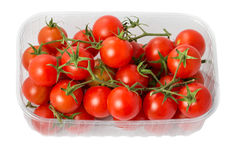 Cherry tomatoes in a plastic container Royalty Free Stock Photography