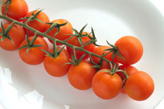 Cherry tomatoes on plate  Royalty Free Stock Photos