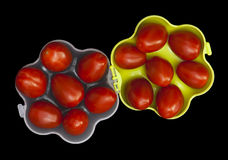 Cherry tomatoes in a portable container Royalty Free Stock Image