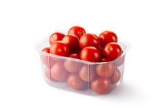 Cherry tomatoes in retail packaging Stock Images