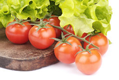 Cherry tomatoes and salad Royalty Free Stock Photo
