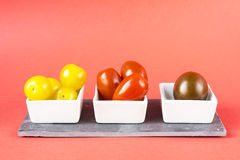 Cherry tomatoes selection Stock Images
