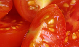 Cherry Tomatoes Sliced Royalty Free Stock Images