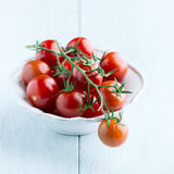 Cherry tomatoes in a small bowl Stock Photos