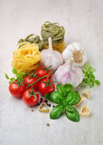 Cherry tomatoes and spices Royalty Free Stock Images